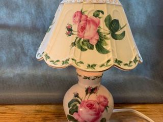 Small Porcelain Painted Floral lamp location Kitchen
