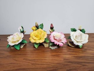 lot of Four 3D Roses Home Decor
