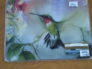 Tempered Glass Curting Board Hummingbird
