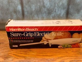 Hamilton Beach Sure Grip Electric Knife location Kitchen