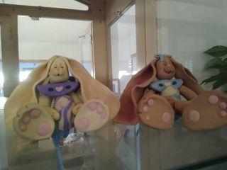 Handmade Sculpy Bunnies