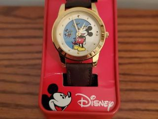 Unique Rotating Dial Vintage Mickey Mouse Watch in Metal Tin Case