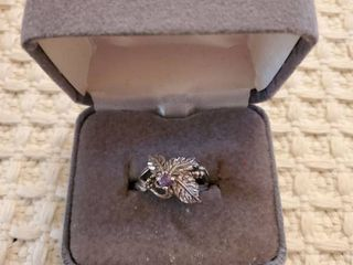 Tanzanite Sterling Silver Womans Ring