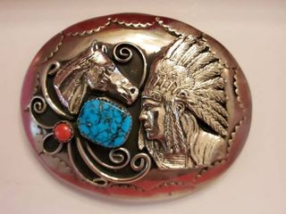 Native American Inspired Belt Buckle