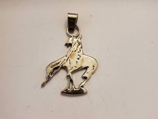 Sterling Silver   The end of the Trail   Necklace Pendent