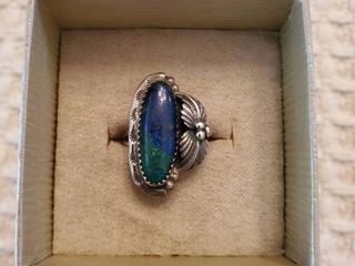 Turqoise and Cobalt Stone Sterling Silver Ring