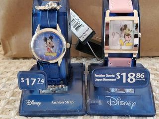lot of 2 Fashion Strap Mickey Mouse Watches