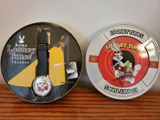 ACME loony Tunes  Collectible Watch in Movie Reel Tin