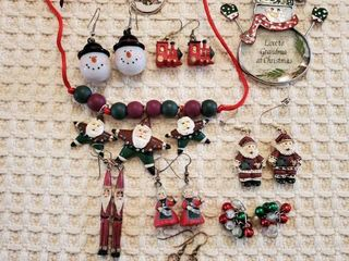 lot of Christmas Theme Jewelry