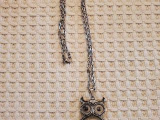 Owl Necklace with Magnifying Glass