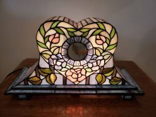Tiffany Style lighted Clock