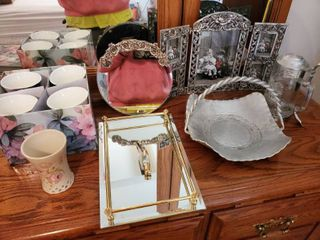 lot of Metal Decor and Collectible Dishware