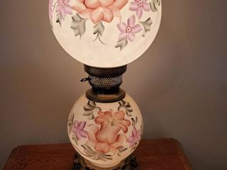 Hand Painted Parlor Dual Glove lamp