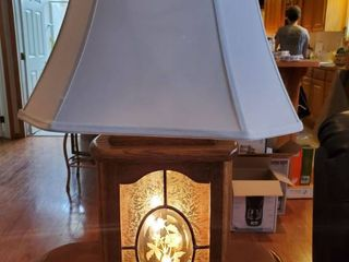Wooden Framed lamp with Mutiple Modes and Rose Decor