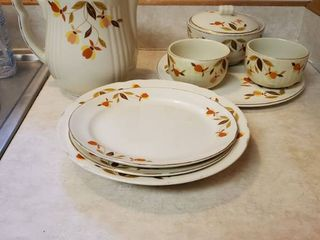 Jewel T by Halls Superior Ceramic Dinning Dishes lot