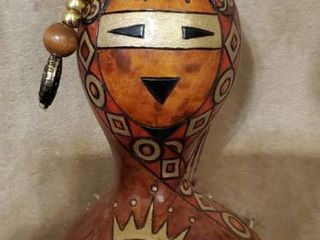 Gourd like Decor  with Native Theme and Flaming Bird