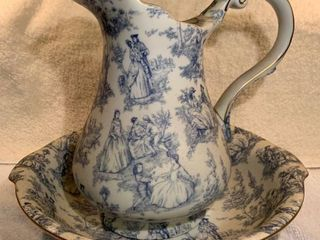 Beautiful Blue and White Pitcher and Basin location Kitchen