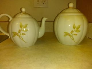 lot Of 2 Porcelain Teapot And Container