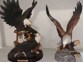 Two Bald Eagle Statues location Pool Table