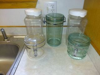 lot Of 5 Containers For A Variety Of Uses