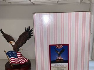 The San Francisco Music Box Company American Eagle Figurine With Box location Pool Table