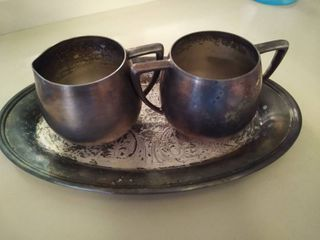 Silver Plated Cream and sugar Set