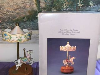 legends of the Rose Musical Porcelain Carousel Figurine location Pool Table