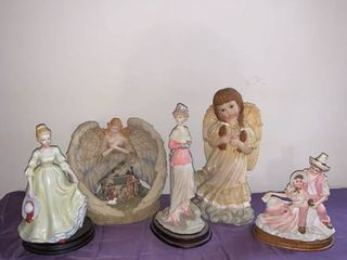 lot of 5 Girl Angel Figurines location Pool Table