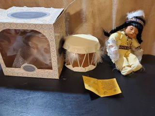 WIllIE Emerald Doll   Native American Doll with Drum