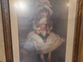 1879 Dated Picture of little Girl with White Dress and Pink Bow