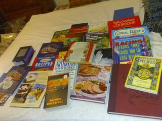 lot Of Various Books Cook Books  Novels Etc