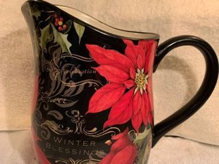 Susan Winget Ceramic Pitcher Winter Blessings location Kitchen