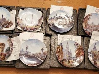 Full 12 Piece Set louis Dali Collectible Plates with Authenticity Papers