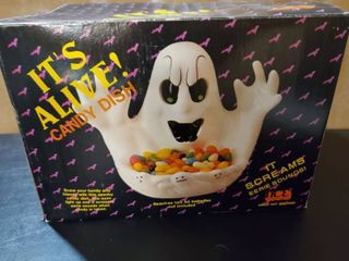 Its Alive Ghost Candy Dish  AA Batteries are Not included
