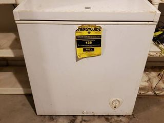 Kenmore 5 1 Cubic Feet Freezer   Tested and Working