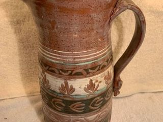 Red Clay Handmade Pottery Pitcher