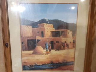 Adobe Themed Art Signed by M  Caroselli