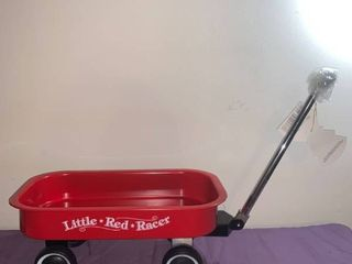 Hallmark little Red Racer Small Wagon location Under Pool Table