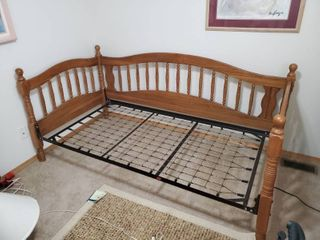 Oak Twin Size Day Bed Frame