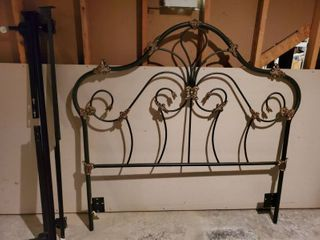 Wrought Iron Head Board   with Side Rails Bolts Inlcludes