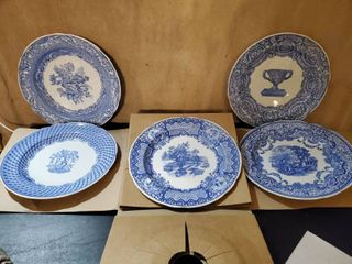 lot of 5 Spode Blue Room Collection
