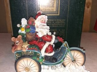 Horseless Carriage Santa on Bicycle 927  5000