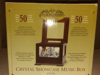 Gold label Crystal Showcase Music Box