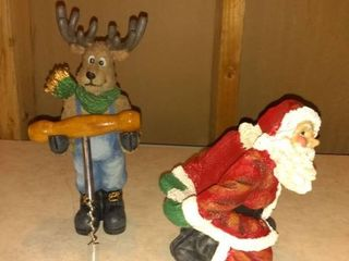 Santa and Moose Bottle and Screw Holder