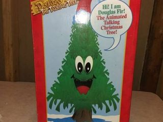 Douglas Fir Vintage 1997 Talking Animated Christmas Tree Gemmy Holiday