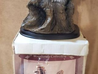 Woodlena Collection  Wolf Head with Bark Style  Plastic Mold