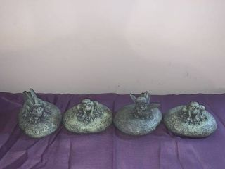 Set of 4 Molded Tiny Critter Paperweights location Basement Closet