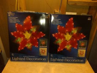 Set of 2 Holiday Time lighted Decorations
