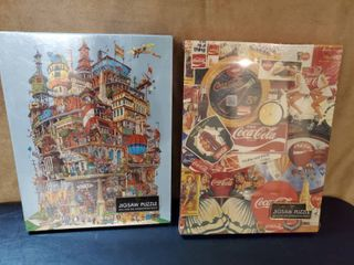 lot of 2 NIB JIGSAW PUZZlES  COCA COlA AND verticalville