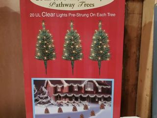 Set of 3 Clear lights Pre Strung Trees